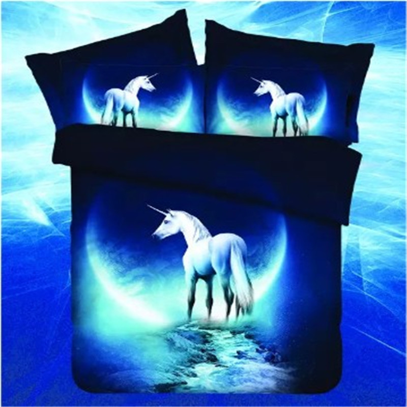 3d Bedding Sets Single Single/Double Bedclothes Bed Linen Sets Horse/star /Earth Printing Mysterious Duvet Cover Set Bed 30