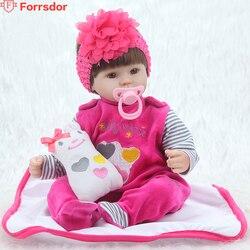 Forrsdor Un hermoso silicona suave de 42 см, un recién nacido, un nuevo regalo de cumpleaños para la moda de la muñeca renacida.