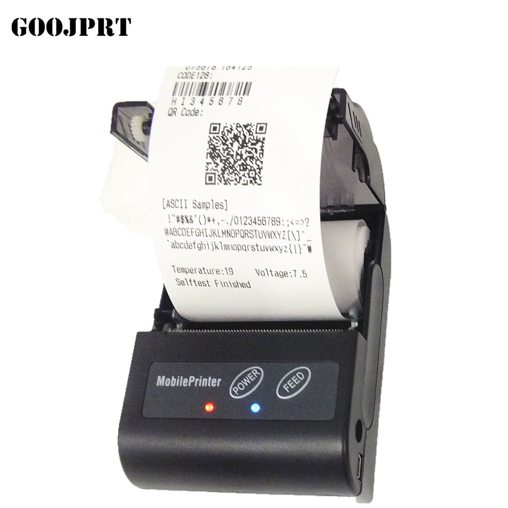 58mm Mobile Android Bluetooth Thermal Printer  Mini Bluetooth Thermal Receipt Printer