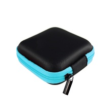 LASPERAL Zipper Earphone Case Leather Earphone Storage Box Portable USB Cable Organizer Carrying Hard Bag For Coin Memory Card cheap Storage Boxes Bins Stocked Folding Eco-Friendly Rectangle Plastic Glossy Earphone Wire Electric Wire Modern Other Storage Container