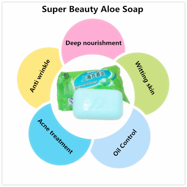 1PCS Natural active enzyme  body skin whitening ALOEVERA soap for private parts fade areola 4