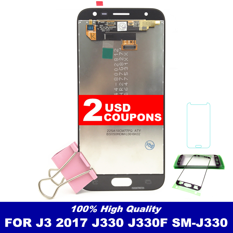 High Quality LCD For Samsung Galaxy J3 2017 J330 J330F SM-J330 LCDs Display Touch Digitizer Screen With Brightness AdjustmentHigh Quality LCD For Samsung Galaxy J3 2017 J330 J330F SM-J330 LCDs Display Touch Digitizer Screen With Brightness Adjustment