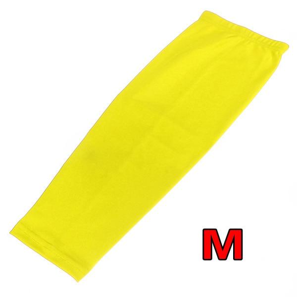 PROMOTION!ELOS-Antislip Sport Basketball Cycling Stretch Leg Protector Calf Knee Long Sleeve - yellow