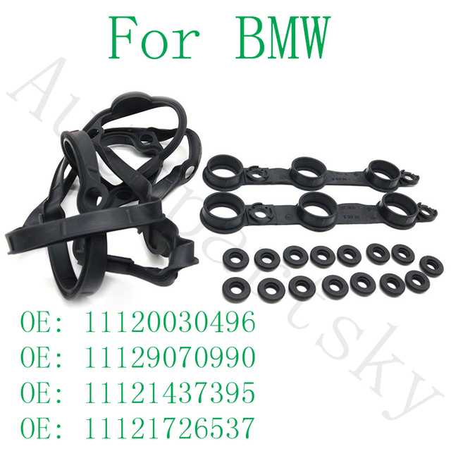 $ 14.71 Complete Set Valve Cover Gasket Set with 15Bolt Seals 11129070990 11121437395 11120030496 11121726537 For BMW E46 E39 E53 E36 X5