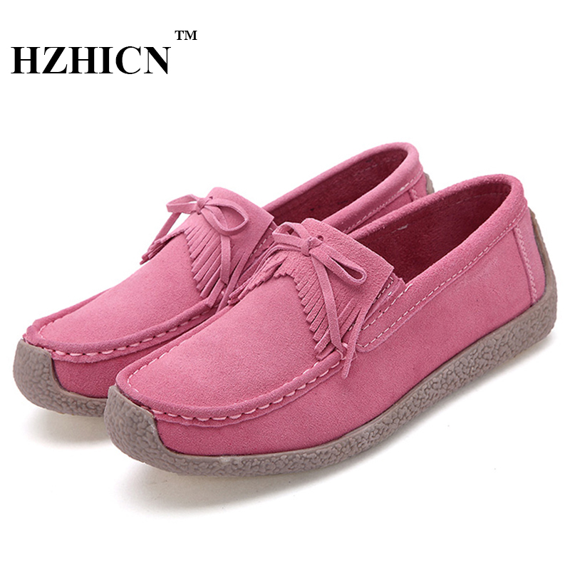 Women Cow Splite Leather Shoes Casual Loafers Soft and Comfortable Oxfords Lace Up Flats Top Brand Shoe for Mother Zapatos Mujer new style comfortable casual shoes men genuine leather shoes non slip flats handmade oxfords soft loafers luxury brand moccasins