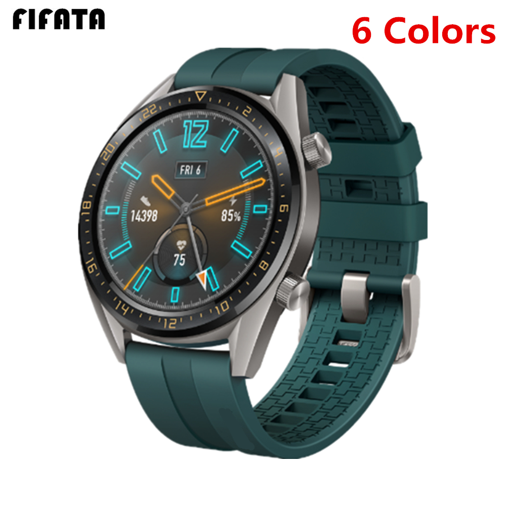 FIFATA 22/20mm Smart Watch Band For Huawei Watch GT/GT2 Strap Silicone Bands Sports Bracelet For Honor Watch Magic Wrist Straps