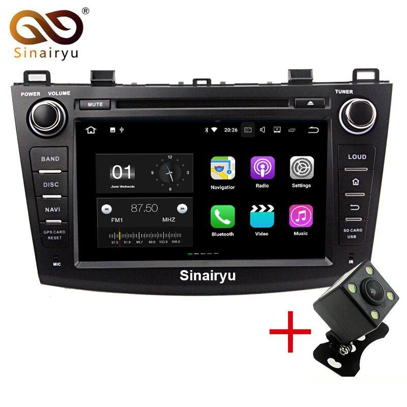 Sinairyu 2 г Оперативная память Android 7.1 автомобильный DVD для Mazda 3 2009-2013 Octa core 16 г Встроенная память Радио GPS навигации игрока головное устройство