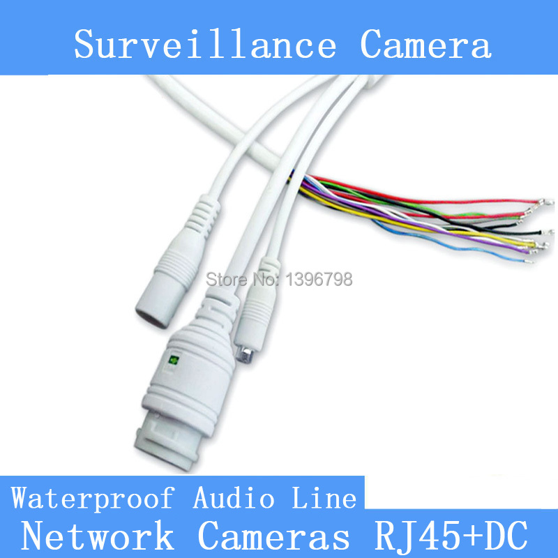 Network Surveillance Cameras Wire RJ45 + DC With Audio Function Waterproof IP Camera Tails