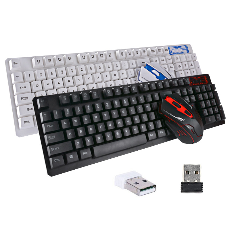 Wireless Keyboard Mouse Set USB 2.4Ghz 1600DPI Gaming Mice Multimedia for Computer PC Desktop XXM8