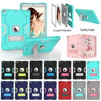 Case For Apple IPad2 IPad3 IPad4 Kids Safe Armor Shockproof Heavy Duty Silicon PC Stand Back