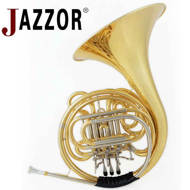 JAZZOR JBFH-600 4-key single French Horn Entry Model, Bb/F Wind Instruments French Horns with mouthpiece Free Shipping one horn double row 4 key single french horn fb key french horn with case surface gold lacquer professional musical instrument