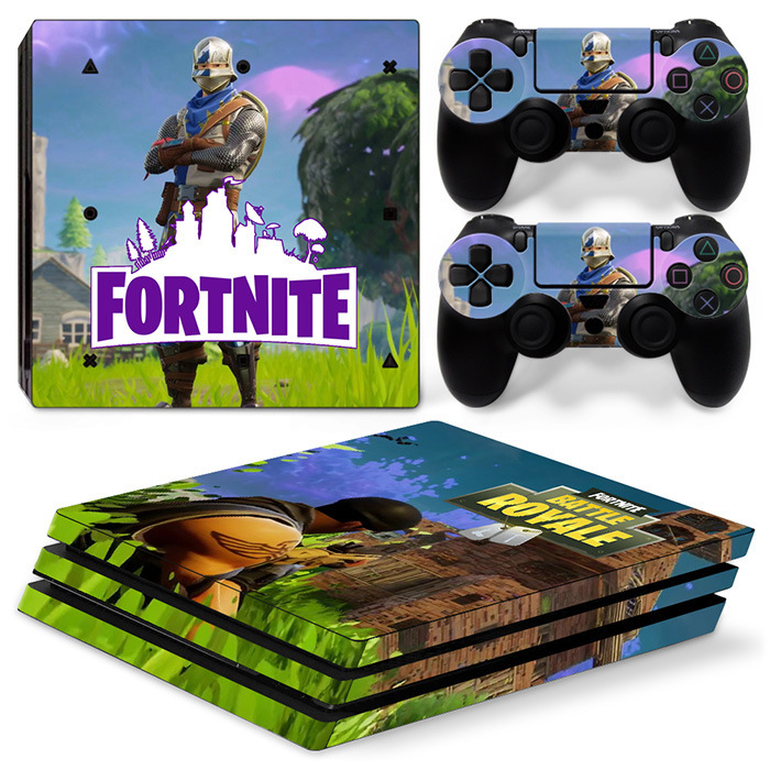 2018 Hottest Game Fortnite Vinyl Decal Stickers FOR PS4 PRO Skin Stickers For PS4 PRO Console + Controllers