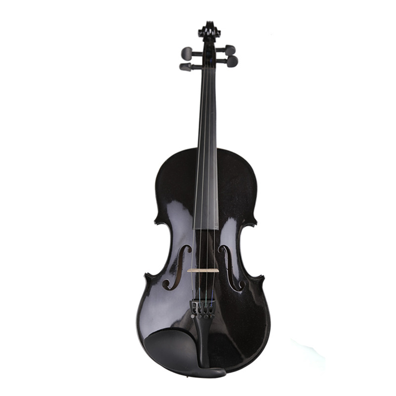 Full Set Accessories High Quality Student Beginner Black Violin 4/4 Violino 3/4 Viola Fiddle w/ Case Bow Rosin