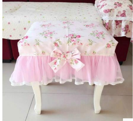 Korean idyllic cotton cloth cover Clove flower dream makeup stool piano stool cover Dres ...
