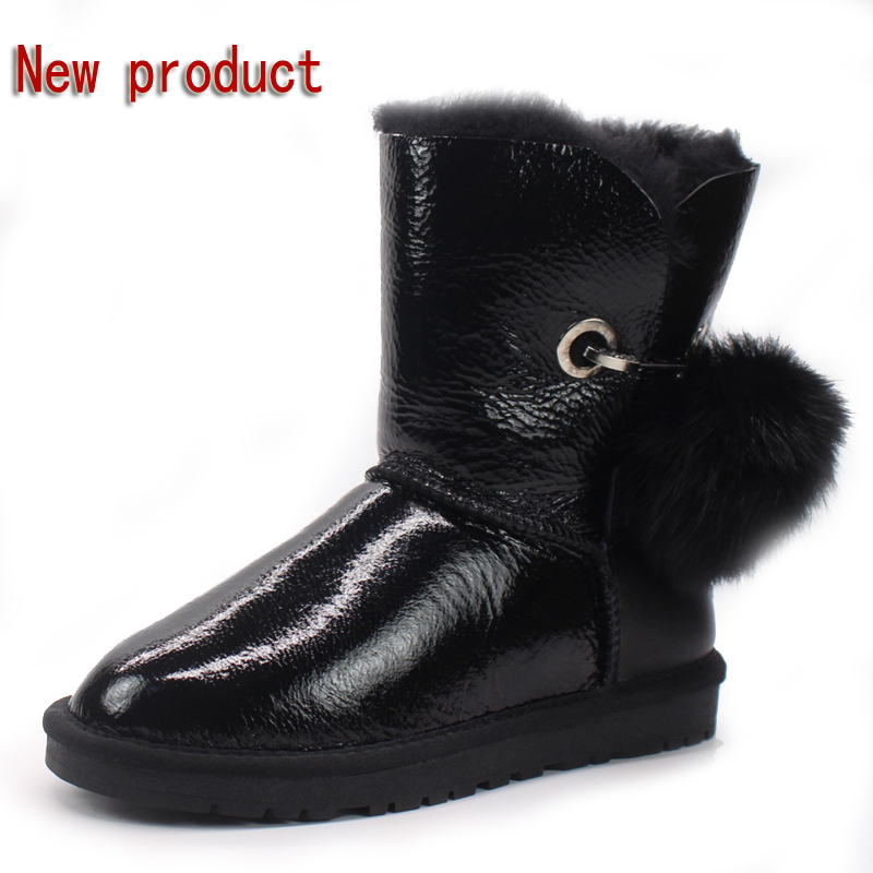 Half price winter new 100% natural Australian sheepskin wool snow boots warm non-slip female boots in the boots free shipping 2017 new solid winter jacket women hooded coat cotton padded parkas long warm sweat girls cold outwear female down jacket m 3xl