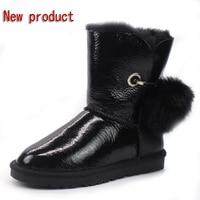 Half Price Winter New 100 Natural Australian Sheepskin Wool Snow Boots Warm Non Slip Female Boots