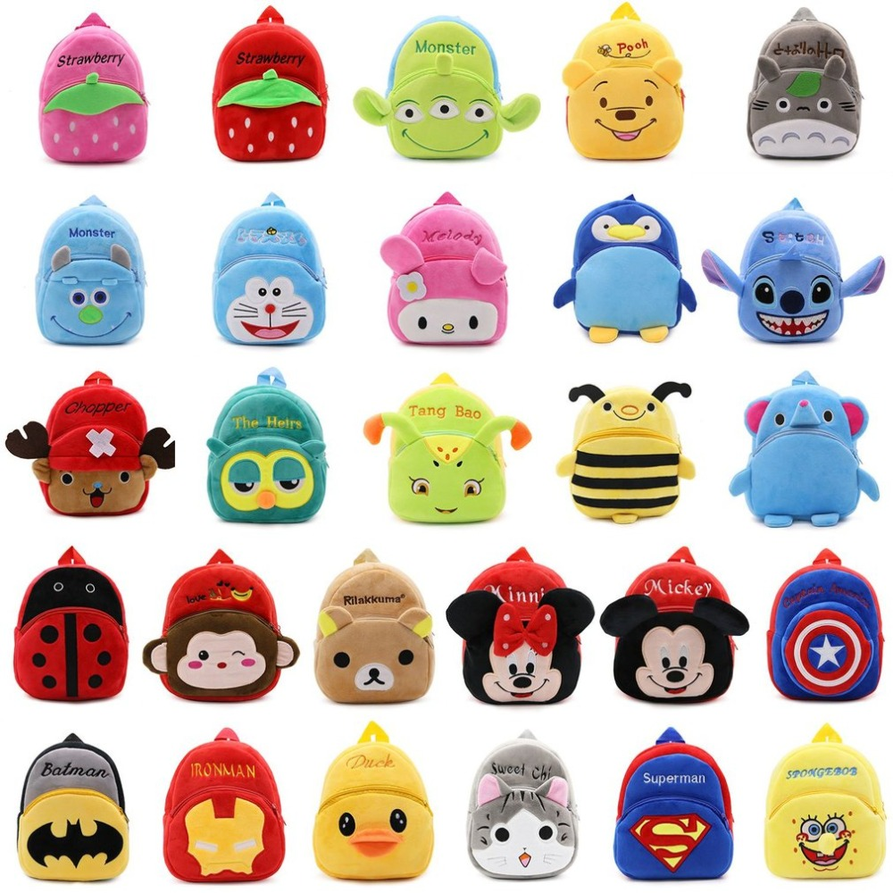 Cartoon Kids Boys Girls Plush Backpacks Baby Toy Student Kindergarten Backpack Cute Children School Bags Mochila School Backpack girls mini messenger bag cute plush cartoon kids baby small coin purses lovely baby children handbags kids shoulder bags bolsa