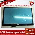 Высокое качество Для Acer V5 471 V5 471 P V5-471P Дигитайзер Сенсорный Экран сенсорный Замена Панели ПК Таблицы экрана