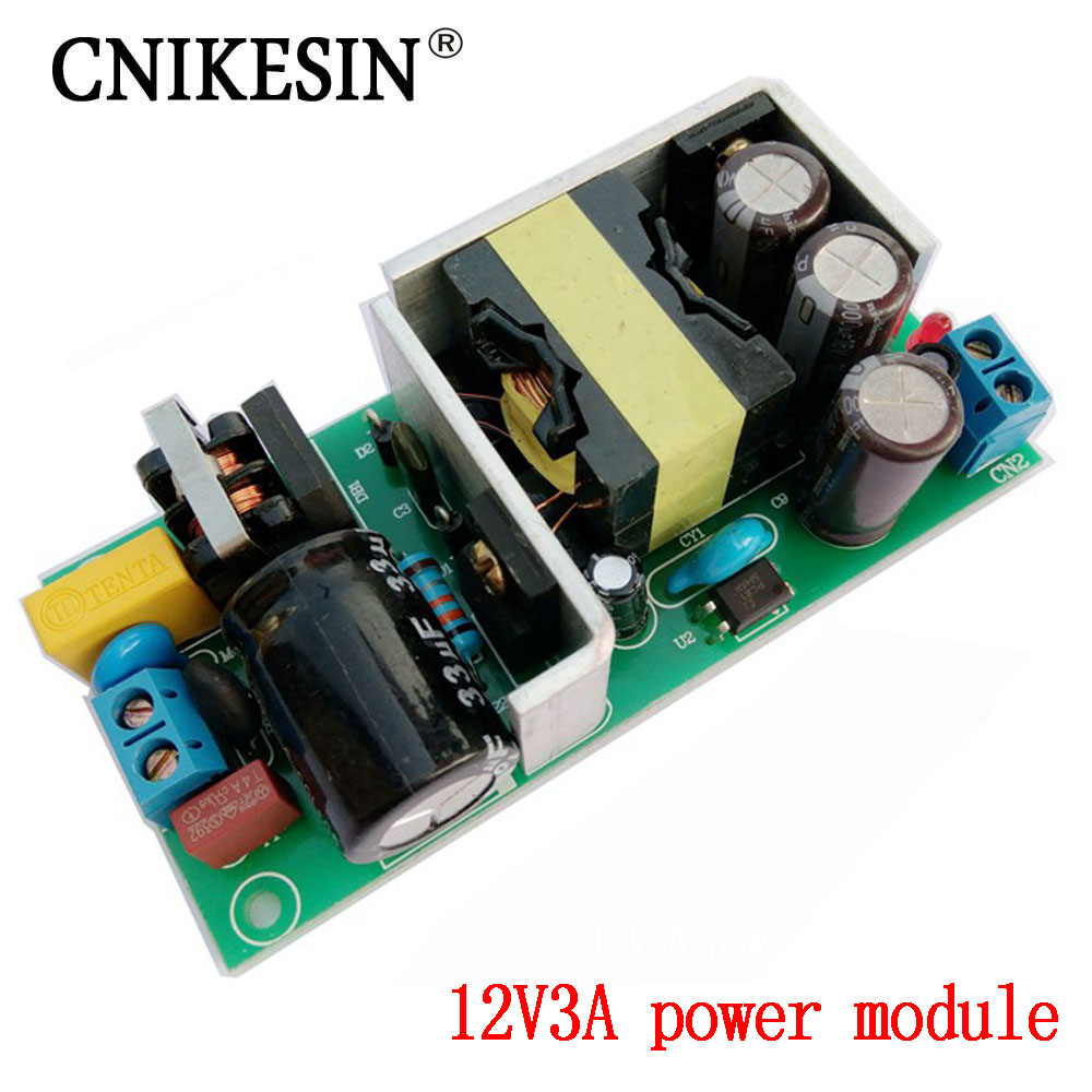 CNIKESIN 12V3A puissance module carte nue, 220 V à 12 V commutateur isolé alimentation, 36 W pied puissance DC alimentation régulée