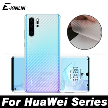 Carbon Fiber Back Cover Screen Protector Protective Film For Huawei P30 P20 Pro