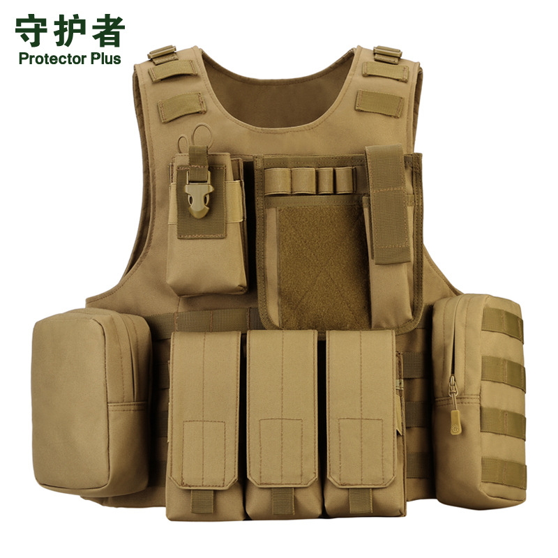 Army Amphibious Camouflage Tactical Vest  Field MOLLE Module Vest Professional CS Equipped Outdoors Army Fans Vest A5157