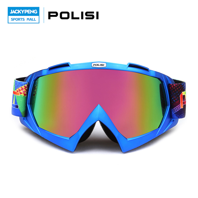 c8cf01c38e POLISI Motorcycle Motocross Off-Road Goggles UV Protection Ski Snowboard  Snow Eyewear Dirt Bike Downhill