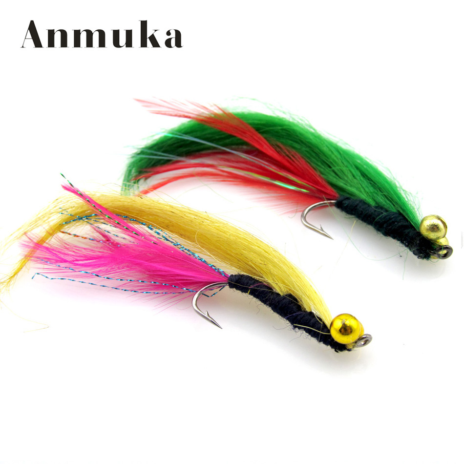 Anmuka 4pcs lot wool dry fly fishing bait long tail for Fly fishing lures