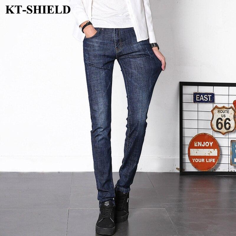 New design Jeans Men Fashion Casual Denim Men Slim fit Jeans Pants Dark Blue Straight Long