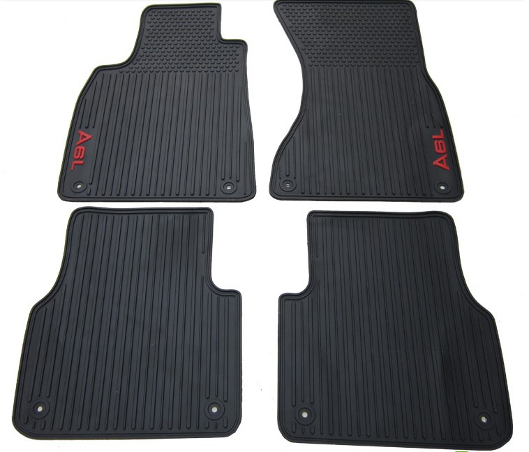 new special no odor rubber feet waterproof green latex car floor mats for A4L A3 A5 Q3 Q5 Q7 A8L A6L