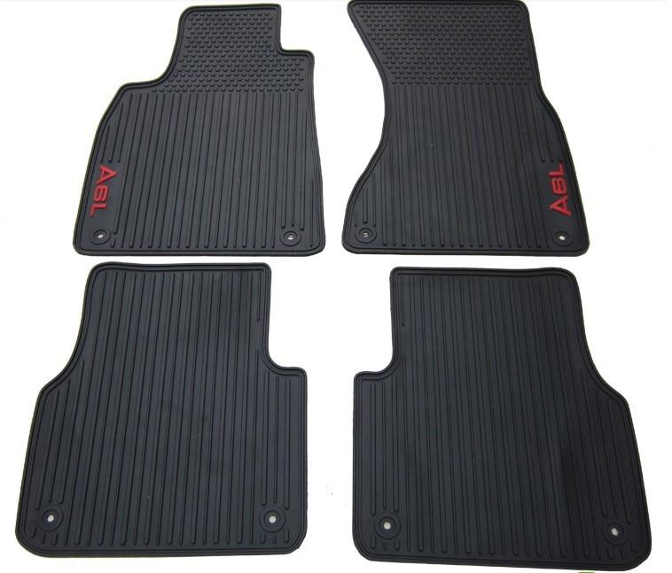 new special no odor rubber feet waterproof green latex car floor mats for A4L A3 A5 Q3 Q5 Q7 A8L A6L