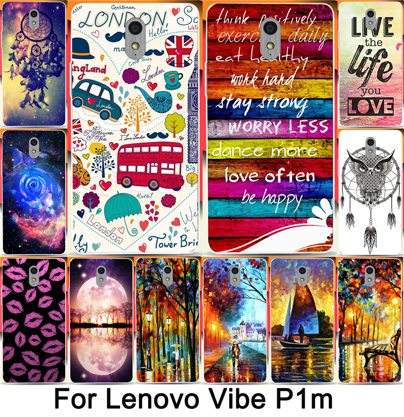 For Lenovo p1m Print Colorful Sweet Home Happy London Sexy Lips Hood Phone Cases For Lenovo vibe p1m cases back cover skin shell