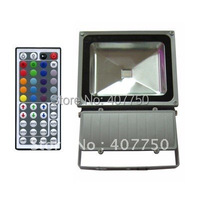 high quality 44key or 24key IR remote rgb led flood light 120W CE&RoHS AC85/265V used for outdoor landscape lighting