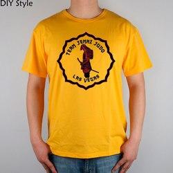 Équipe Jemni Judo Las Vegas Logo T-shirt haut Lycra coton hommes T-shirt nouveau Design de haute qualité
