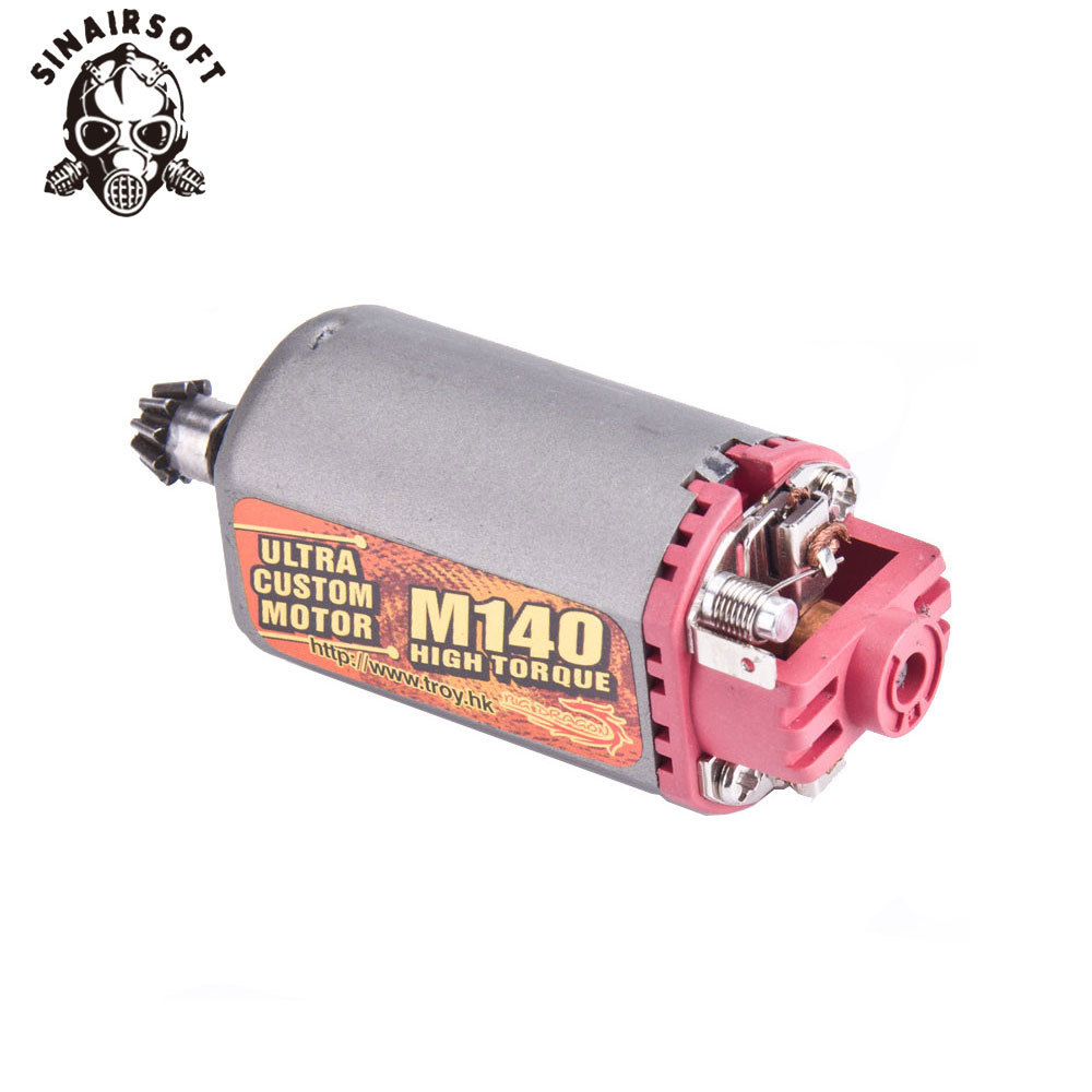 SINAIRSOFT Terminator Ultra Custom M140 High Twist Type Motor High Torque AEG Motor Short Axis For Airsoft AK Series