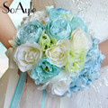 SoAyle Горячий продавать Свадебный Букет 2016 свадебные цветы высококачественные оригинальные хотя свадебные букеты 22 см * 25 см искусственные цветы