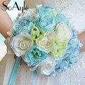 SoAyle venta Caliente Ramo De La Boda 2016 flores de la boda de Alto grado original aunque ramos de novia 22 cm * 25 cm flores artificiales