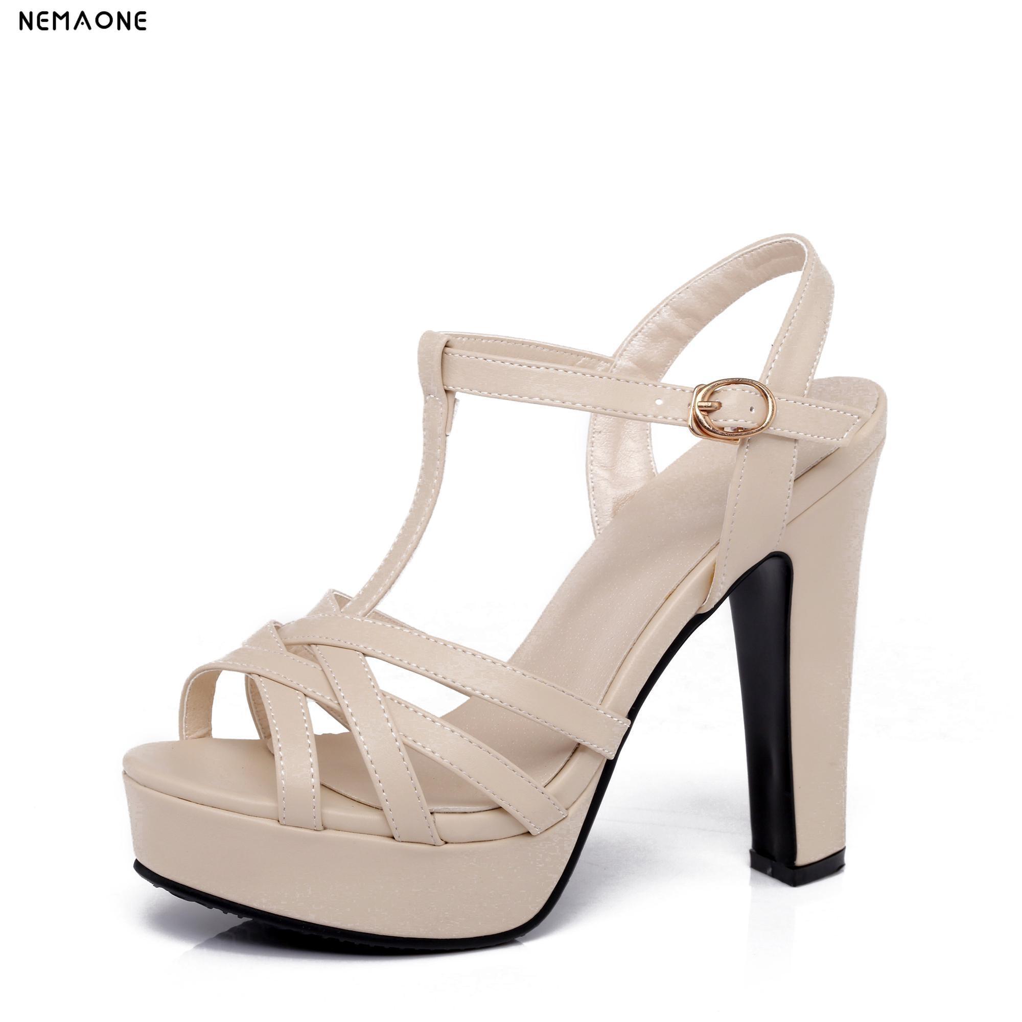 NEMAONE Women High heels Sandals 2017 New Arrivals Fashion Thick High Heels Sandal For Women Sexy Open Toe Summer Dress Shoes 2018 fashion women pumps sexy open toe heels sandals woman sandals thick with women shoes high heels s144