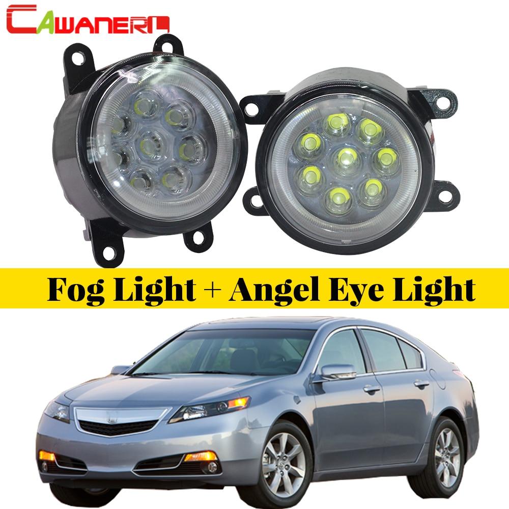 Cawanerl Car Accessories LED Bulb Fog Light Angel Eye
