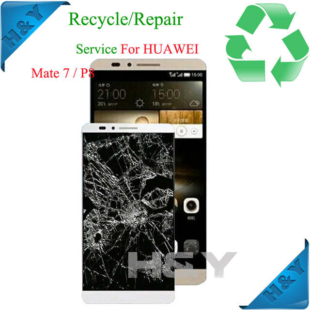 for refurbish repair recycle for huawei mate s 7 honor lcd screen