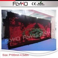 Свадьбу LED тканью Точечные светильники в помещении Мягкие гибкие P100mm стены фон 4.5x8 м curtian