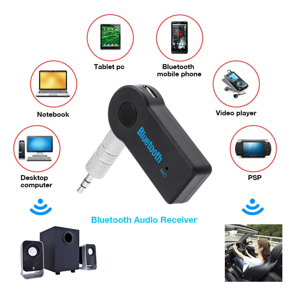 3.5mm Blutooth Wireless For Car Music Audio Bluetooth Receiver Adapter Aux 3.5mm A2dp For Headphone Receiver Jack Handsfree