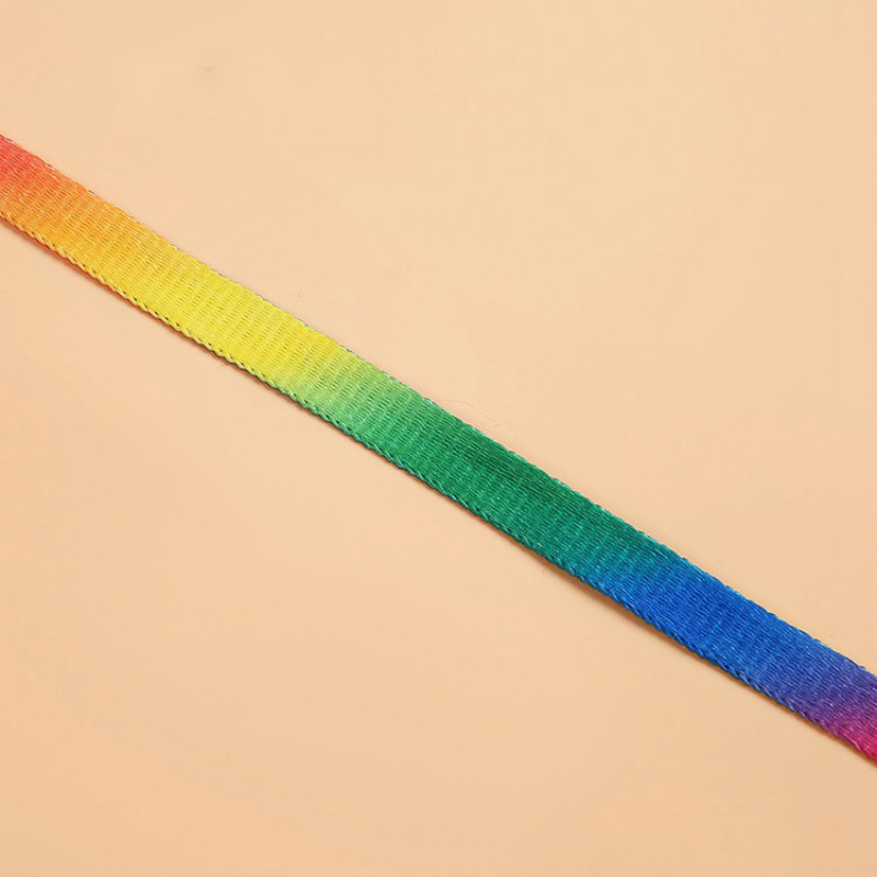 1 Pair 100cm Colorful Color 8mm Wide Rainbow Sport Sneakers Flat Shoelaces Shoestrings