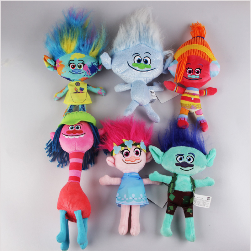 23-36cmDreamworks Trolls Dolls Wizard Blanche Bobbi Magic elf Mega Town Dream Magic Fairy Hair Stuffed Kids Gift