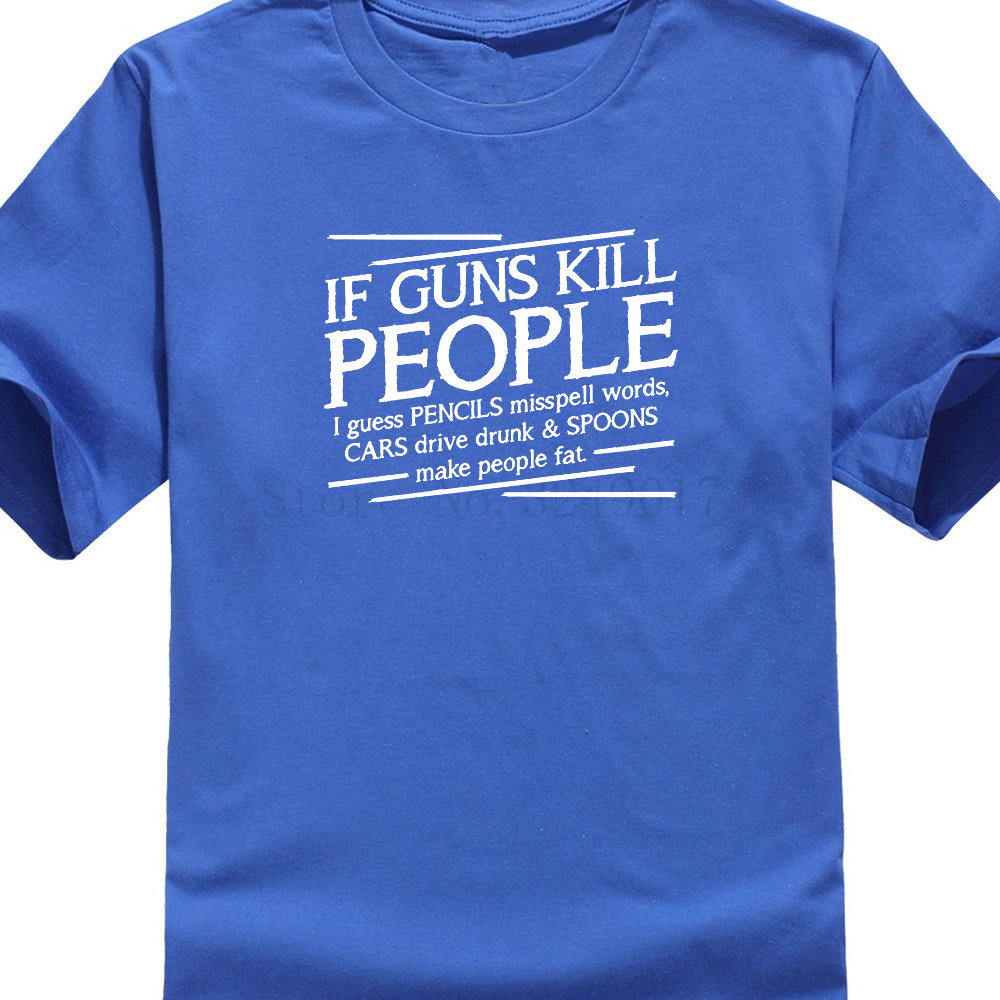 popularshop Guns Kill People Pencils Miss Spell Words Gift Idea Political Funny T-Shirts