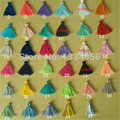 Free Shipping 30mm Tassels Silk Cotton Charms Pendant silk Satin tassels for Earring Findings jewelry making DIY Materials 5pcs