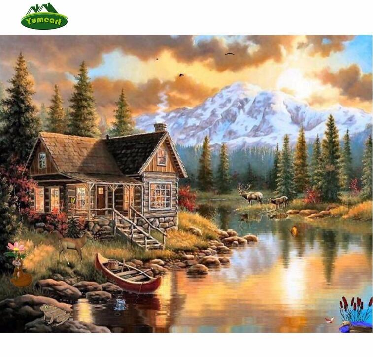 DIY Full 5D Diamond Painting Scenery Cross Stitch Craft Home Decor