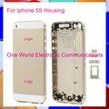 Черный Белое Золото Выросли Для Iphone 5S/как SE Стиль новое Шасси Ближний Рамка Корпус Задняя Крышка Батареи Дело Дверь для Отслеживания код