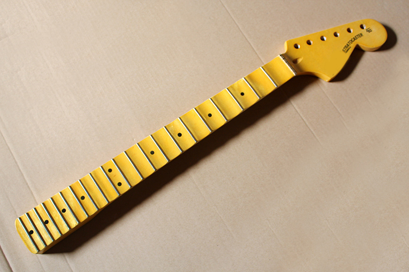 Stringed Instruments Expressive Yellow Electric Guitar Neck With Big Headstock,scalloped Fingerboard,21 Frets,6 Strings,offer Customized Superior Performance Guitar Parts & Accessories