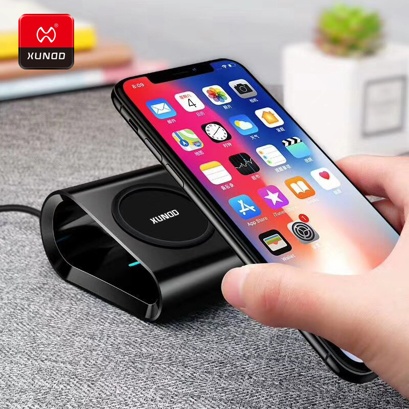 Luxury Brand 10W Qi Wireless Charger For iPhone Xs Max 8 Plus Fast Wireless Charging For Samsung S8 S9 Plus USB Wireless Charger in Mobile Phone Chargers from Cellphones Telecommunications