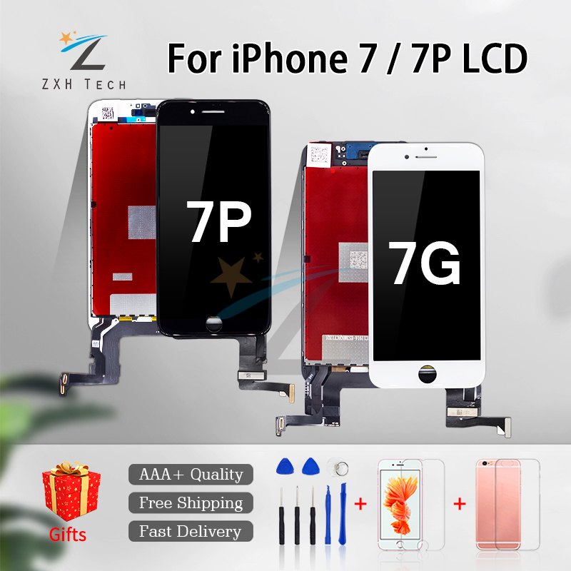 1PCS Top LCD For IPhone 7 7 Plus LCD For IPhone 8 8 Plus Display AAA 3D Touch Screen Digitizer Assembly With Gifts Free Shipping